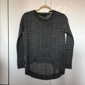 Theory Black and White Sweater